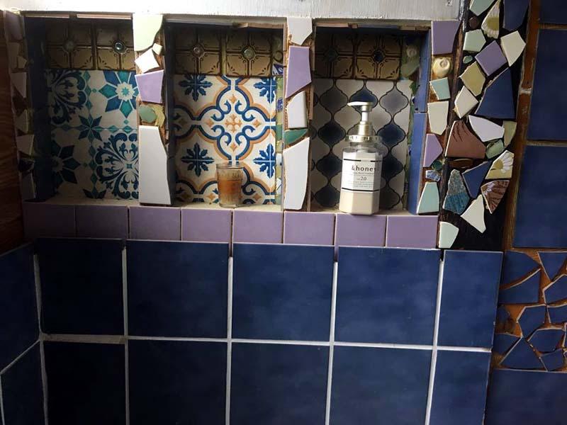 お風呂DIY中