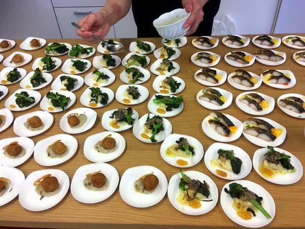 鴨川の食材で料理 試食会