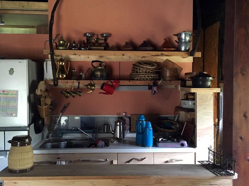 土間に作った台所