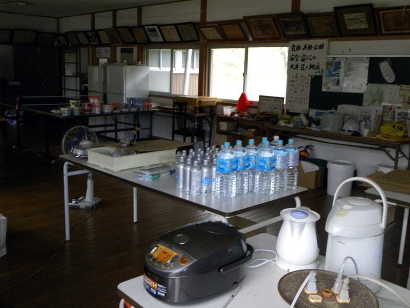 台風15号大井青年館に集まった物資