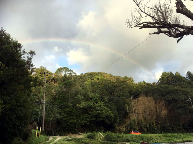 台風後再会できた友達と一緒に見た虹