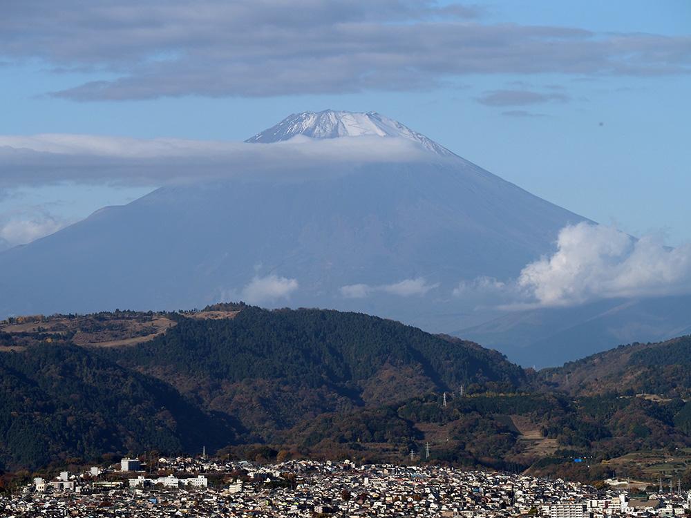展望台から見た富士山